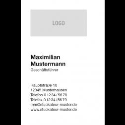 Visitenkarte mit Logo 1stg. hoch