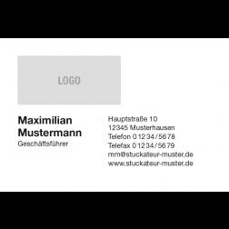 Visitenkarte mit Logo 1stg. quer