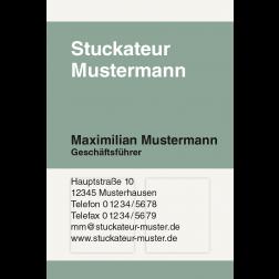 Visitenkarte Wandverkleidung 1stg. hoch